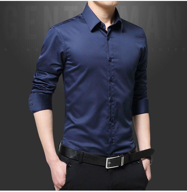 长袖衬衫订制男款新款舒适正装高档男款上衣衬衫