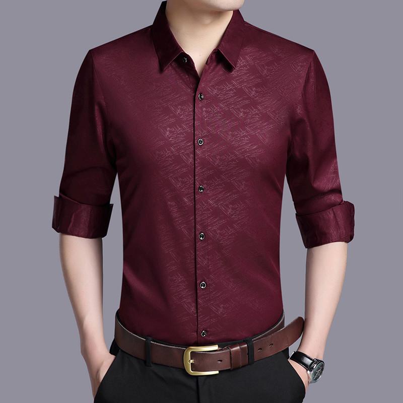 新款舒适正装男款高档衬衣定做上衣衬衫